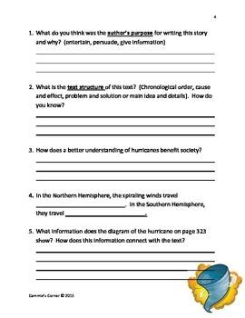 Journey's 4th Grade:  Unit 3, Lesson 11 Hurricanes