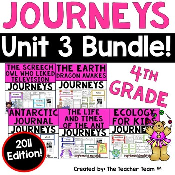 Journeys 4th Grade Unit 3 Supplemental Activities & Printables 2011