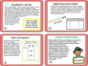 Journeys 4th Grade Unit 4 Task Cards Supplemental Materials 2011