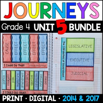 Journeys 4th Grade Unit 5 BUNDLE: Supplemental Materials w