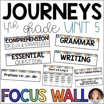 Journeys 4th Grade Unit 5 FOCUS WALL Supplement