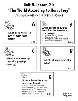 Journeys 4th Grade - Unit 5 Student Study Guides & Activities for Lessons 21-25