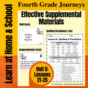 4th Grade Journeys - Unit 5:  Effective Supplemental Materials