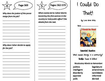 Journeys 4th Grade Unit 5 Trifolds Bundle (2011)