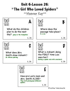 Journeys 4th Grade - Unit 6 Student Study Guides & Activities for Lessons 26-30