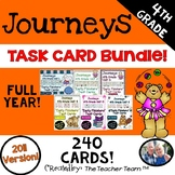 Journeys 4th Grade Units 1-6 Full Year Task Cards Activities Bundle 2011