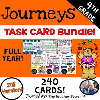 Journeys 4th Grade Units 1-6 Early Finishers Task Cards 20