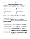 Journeys 4th Grade Vocab Test, Word List The Right Dog for the Job (Editable)
