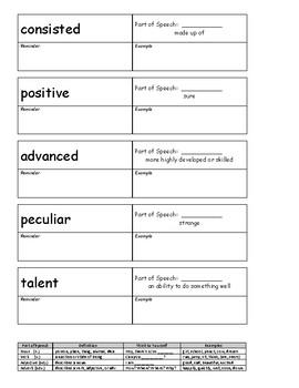 "Journeys 4th Grade Vocabulary Lesson ""Notesbook"""