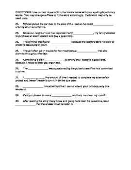 Journeys 4th Grade Vocabulary Test, Word List for The Power of WOW (Editable)