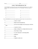 Journeys 4th Grade Vocabulary Test, Word List for Coming Distractions (Editable)