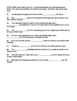 Journeys 4th Grade Vocabulary Test, Word List for Hurricanes Editable