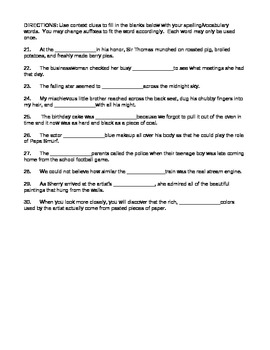 Journeys 4th Grade Vocabulary Test, Word List for Me and Uncle Romie (Editable)