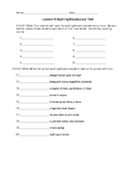 Journeys 4th Grade Vocabulary Test, Word List for Me and U