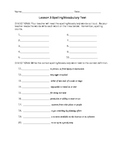 Journeys 4th Grade Vocabulary Test, Word List for My Libra