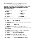 Journeys 4th Grade Vocabulary Tests, Word List for Unit 3 (Editable)