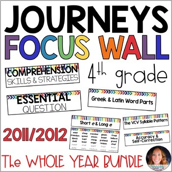 Journeys 4th Grade WHOLE YEAR Focus Wall Supplement 2011/2012