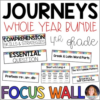 Journeys 4th Grade WHOLE YEAR Focus Wall Supplement 2014/2017