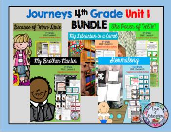 Journeys 4th grade Unit 1 BUNDLE