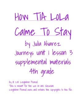 Journeys 4th grade unit 1 lesson 3 activities