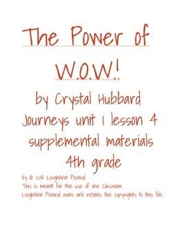 Journeys 4th grade unit 1 lesson 4 activities