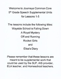 Journeys 5th Grade Common Core Supplemental Bundle Lessons 1-5