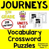 Journeys 5th Grade Crossword Puzzle Bundle Units 1-6 Full Year 2011