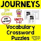 Journeys 5th Grade Crossword Puzzles Unit 1 - Unit 6 Full Year   2011