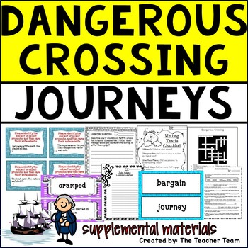 Dangerous Crossing Journeys 5th Grade Unit 3 Lesson 11 Activities and Printables