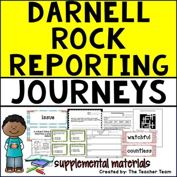 Darnell Rock Reporting Journeys 5th Grade Unit 4 Lesson 19 Activities