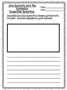 Don Quixote and the Windmills Journeys 5th Grade Supplemental Materials
