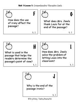 FREEBIE! Journeys 5th Grade - Student Study Guide & Activities for Lesson 1