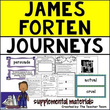 James Forten Journeys 5th Grade Unit 3 Lesson 14 Activities and Printables