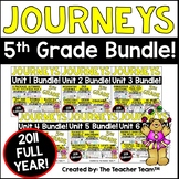 Journeys 5th Grade Unit 1 - Unit 6  Printables Year Bundle | 2011
