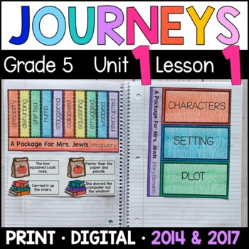 Journeys 5th Grade Lesson 1: A Package for Mrs. Jewls (Interactive Supplements)