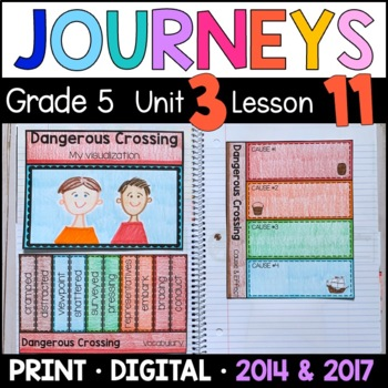 Journeys 5th Grade Lesson 11: Dangerous Crossing (Supplemental & Interactive)