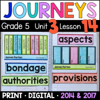 Journeys 5th Grade Lesson 14: James Forten (Supplemental & Interactive pages)