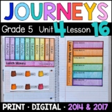 Journeys 5th Grade Lesson 16: Lunch Money Supplements with GOOGLE Classroom