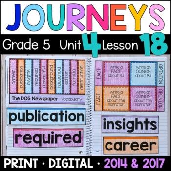 Journeys 5th Grade Lesson 18: The Dog Newspaper (Supplemen