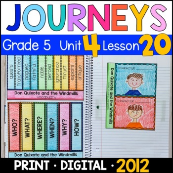 Journeys 5th Grade Lesson 20: Don Quixote & the Windmills (Supplements)