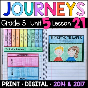 Journeys 5th Grade Lesson 21: Tucket's Travels Supplemental & Interactive pages