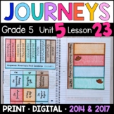 Journeys 5th Grade Lesson 23: Vaqueros (Supplemental & Interactive pages)
