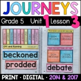 Journeys 5th Grade Lesson 3: Off and Running (Supplemental