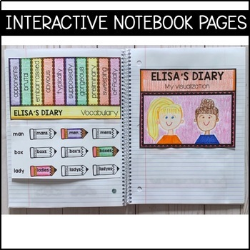 Journeys 5th Grade Lesson 5: Elisa's Diary (Supplemental & Interactive pages)