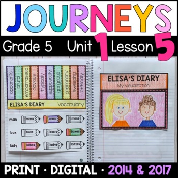 Journeys 5th Grade Lesson 5: Elisa's Diary (Supplemental &