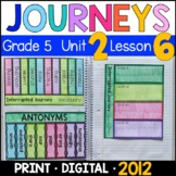 Journeys 5th Grade Lesson 6: Interrupted Journey Supplements w/ GOOGLE Classroom