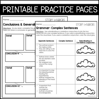 Journeys 5th Grade Lesson 9: Storm Warriors (Supplemental & Interactive pages)