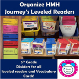Journey's Lessons: Organization 5th Grade Dividers for Lev