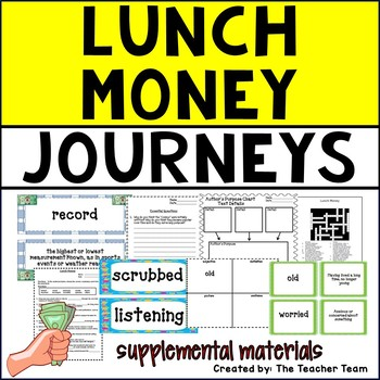 Lunch Money Journeys 5th Grade Unit 4 Lesson 16 Activities and Printables