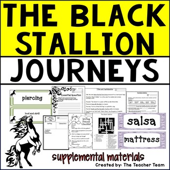 The Black Stallion Journeys 5th Grade Unit 4 Lesson 20 Activities and Printables